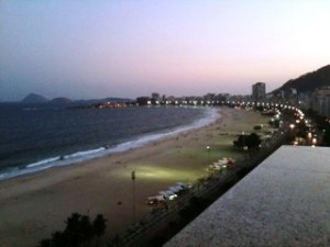 View from the Windsor Excelsior Hotel in Rio de Janeiro, Brazil